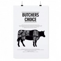 PLAKAT BUTCHERS CHOICE TAFELGUT