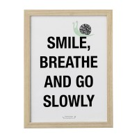 OBRAZEK Z NAPISEM SMILE BREATHE AND GO SLOWLY BLOOMINGVILLE