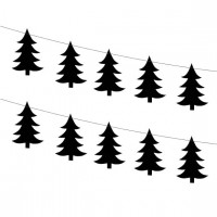 GIRLANDA PAPIEROWA  BLACK CHRISTMAS TREE