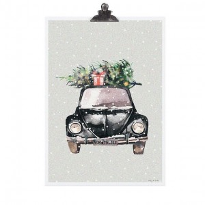 PLAKAT CHRISTMAS CAR TAFELGUT