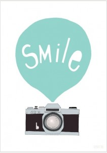 PLAKAT SMILE MINT 30X40 SEVENTY TREE