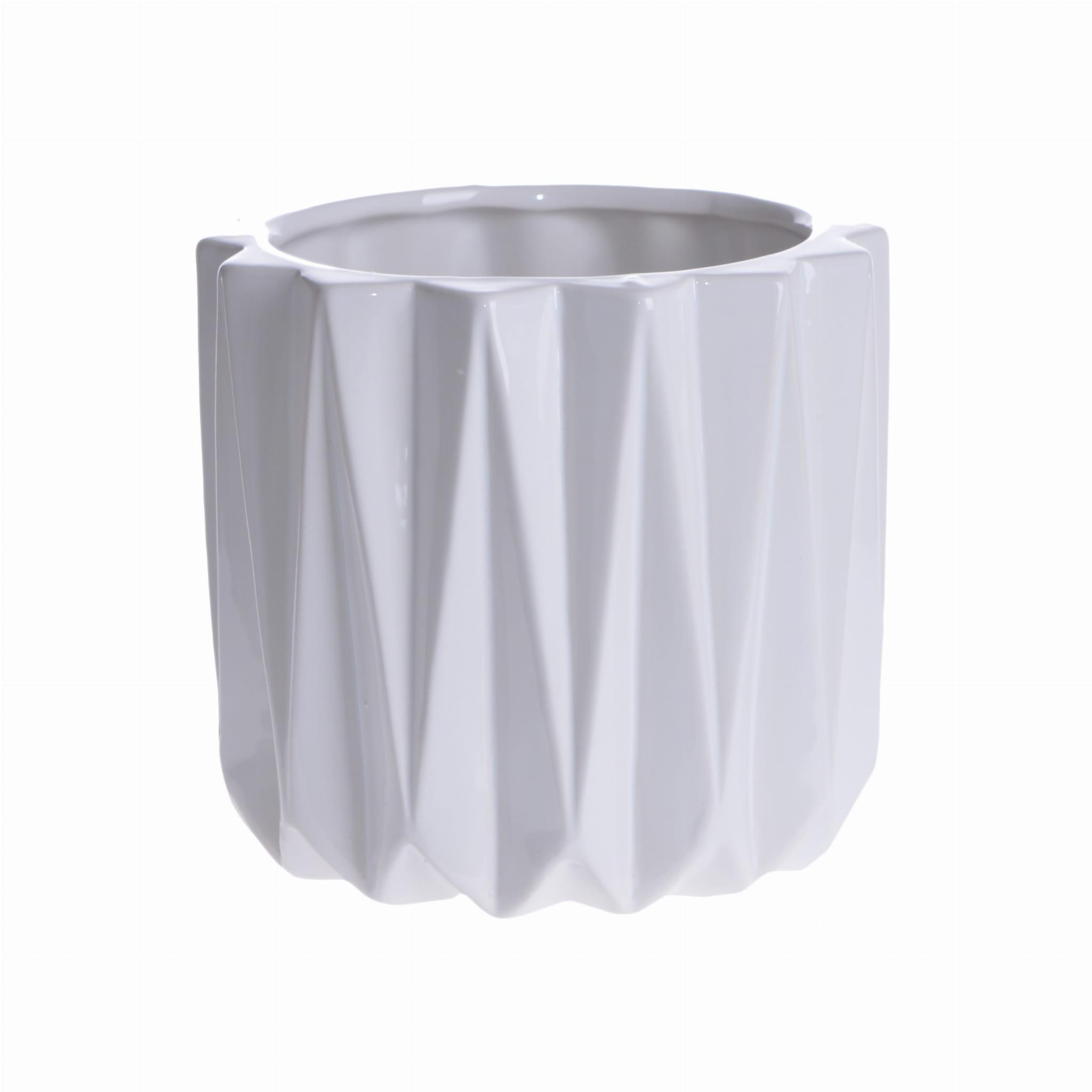 Doniczka Origami Duża Biała
